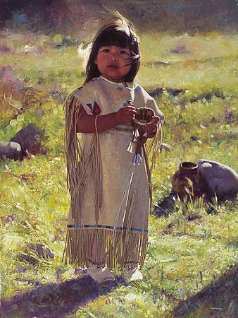 petite indienne enfant